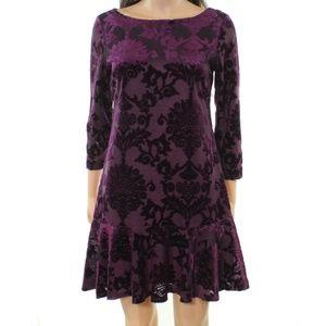 VINCE CAMUTO || Velvet Purple  Dress